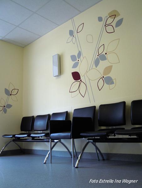 inaestrella wandgestaltung strahlenklinik caritas rastpfuhl. Black Bedroom Furniture Sets. Home Design Ideas